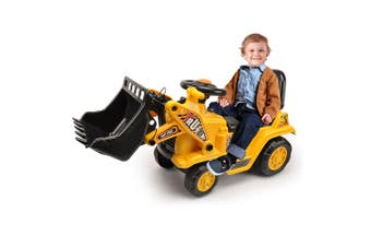 Lenoxx Ride On Digger Kids/Children Outdoor Tractor Push/Kick Toy w/Levers 3y+
