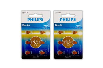 12pc Philips ZA312B6A/97 Zinc Air Button Cell 1.4V 160mAh Hearing Aid Battery