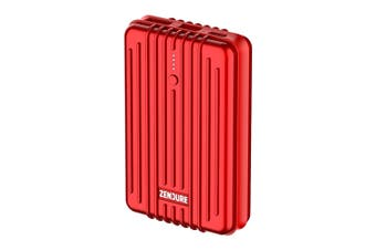 Zendure A3PD 10000mAh USB-A/USB-C Power Bank Battery Charger for Phones Red