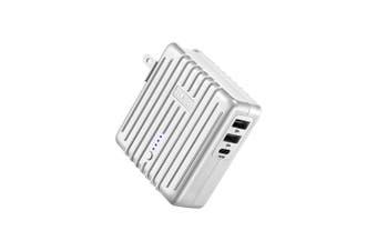 Zendure MIX 5200mAh USB-A/USB-C Wall & Power Bank Battery Charger f/Phone Silver