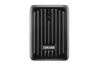 Zendure SuperMini 10000mAh USB-A/USB-C Power Bank Battery Charger for Phones BLK
