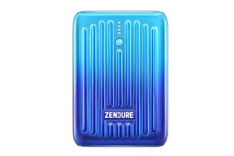 Zendure SuperMini 10000mAh USB-A/USB-C Power Bank Battery Charger for Phones BLU