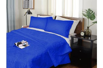 Ramesses 3 Pieces Ultrasonic (Pinsonic) Comforter Set King Royal Blue