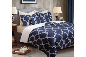 6PCS BEDROOM PACK QUEEN BLUE