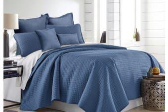 7 Pieces Premium Hotel Comforter Sets Queen-King Denim