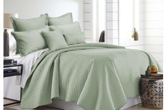 7 Pieces Premium Hotel Comforter Sets Queen-King Sage Green