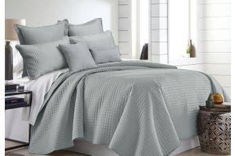 7 Pieces Premium Hotel Comforter Sets Queen-King Silver