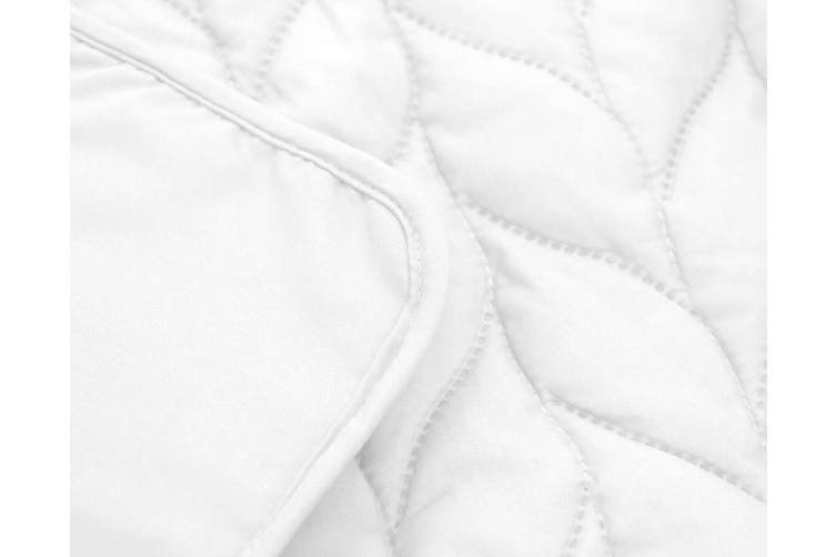 9PC ULTRASONIC COMFORTER SET KING WHITE