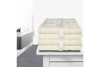 4 Piece Ramesses Bathmat Set-Ivory