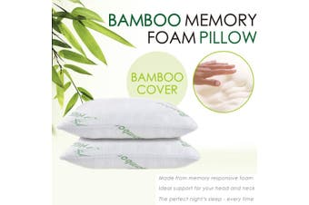Ramesses Cooling Bamboo Hypoallergenic Memory Foam Pillow Twin Pack