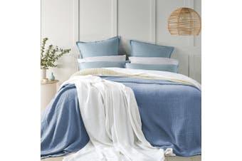 Egypitan Cellular Blanket Single - Mid Blue