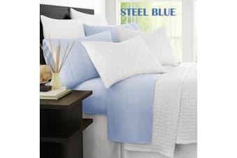 Ramesses Original 2000TC Cooling Bamboo Sheet Set  Queen Steel Blue