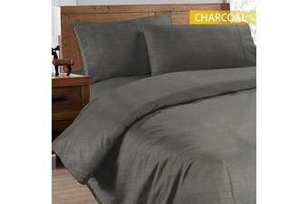 Ramesses 2000TC Cooling Bamboo Quilt Cover Set-Double-Charcoal