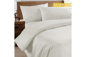 Ramesses 2000TC Cooling Bamboo Quilt Cover Set-Double-Silver