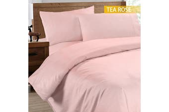 Ramesses 2000TC Cooling Bamboo Quilt Cover Set-Double-Tea Rose