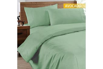 Ramesses 2000TC Cooling Bamboo Quilt Cover Set-Single-Avocado