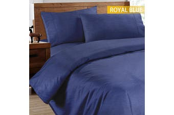 Ramesses 2000TC Cooling Bamboo Quilt Cover Set-Single-Royal Blue