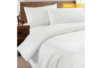 Ramesses 2000TC Cooling Bamboo Quilt Cover Set-Single-White