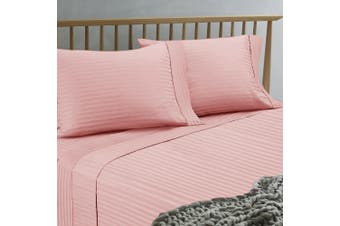 Ramesses 1500TC Hotel Collection Spring Refresh Jacquard Egyptian Cotton Sateen Sheet Set  Queen Dusty Pink
