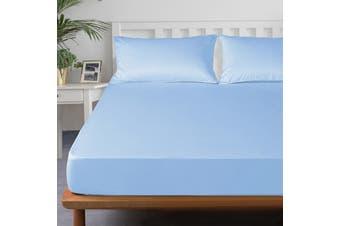 Royal Boutique 100% Egyptian Cotton 2000 Series Combo Set King Single - Ice blue