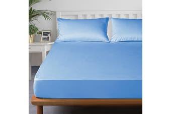 Royal Boutique 100% Egyptian Cotton 2000 Series Combo Set Super King - Blue Mist