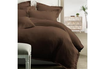 Honeycomb Quilt Cover Set 225Thread Count-Chocolate