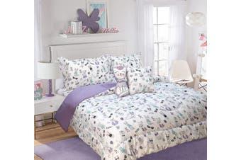 Ramesses 5 Piece Kids Comforter Set-Single-Cats