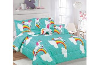 Ramesses 5 Piece Kids Comforter Set-Single-Unicorn