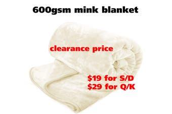 Mink Blanket Q/Cream