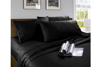 Microfibre Sheet Set Single Black
