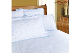 Machine Lace Sheet Set Ice Blue