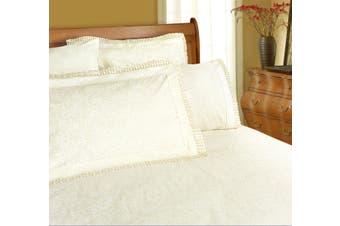 Machine Lace Sheet Set King Cream