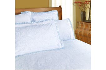Machine Lace Sheet Set Queen Ice Blue