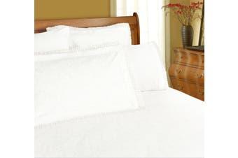 Machine Lace Sheet Set Queen White