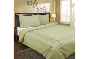 Pintuck Quilt Cover 225 Thread Count Single - Melon