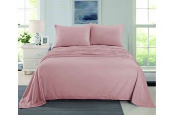 CASHMERE TOUCH FLANNEL SHEET SET  QUEEN DUSTY PINK