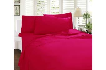 Paris Romance Sheet Set Single Hot Pink