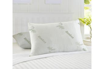 Cooling Bamboo Memory Foam Pillow StandardX2