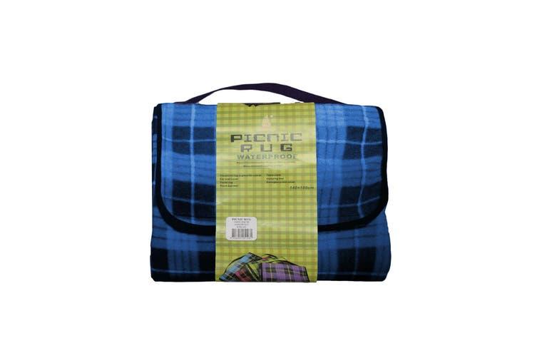 Four Pack Kingdom Waterproof Picnic Rug - Blue