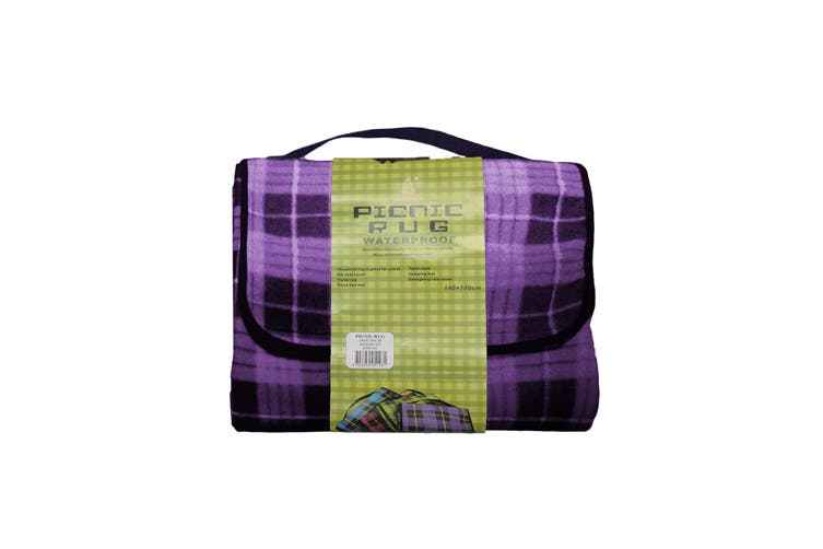 Kingdom Waterproof Picnic Rug - Purple
