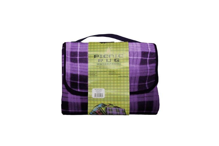 Four Pack Kingdom Waterproof Picnic Rug - Purple