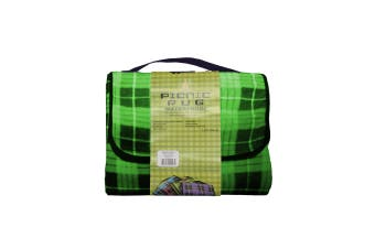Four Pack Kingdom Waterproof Picnic Rug - Green