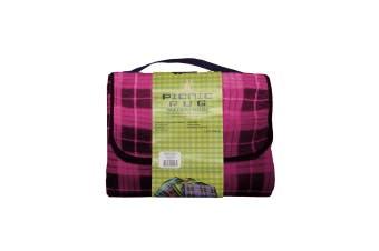 Four Pack Kingdom Waterproof Picnic Rug - Pink