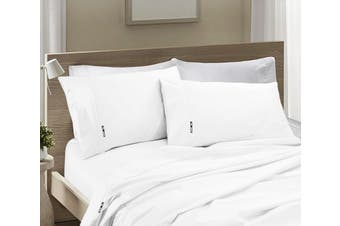 Ramesses 1200TC SILVER EGYPTIAN COTTON SATEEN SHEET SET -Queen White
