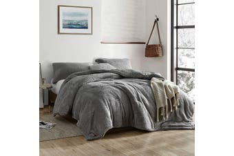 TEDDY FLEECE DUVET COVER SET Charcoal