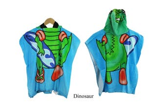 Kids Beach Hooded  Towelling Poncho Dinosaur(Twin Pack)