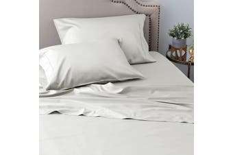 Ramesses Sustainable and Ultra-soft All-Natural Comfort Organic 100% Tencel Sheet Set 1200TC King Single Silver