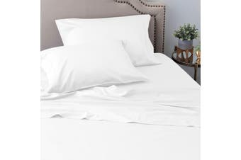 Ramesses Sustainable and Ultra-soft All-Natural Comfort Organic 100% Tencel Sheet Set 1200TC Single White