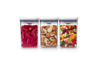 OXO GG  3-pc Small Square Short POP Container Set