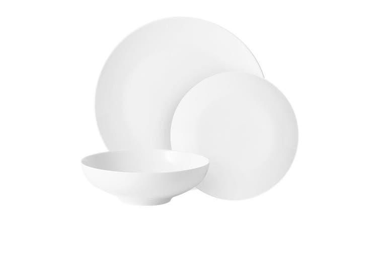 Salisbury & Co Classic Pure 12pc Coupe Dinner Set White